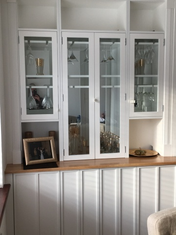 Alcove furniture for a home in Worthing, West Sussex.