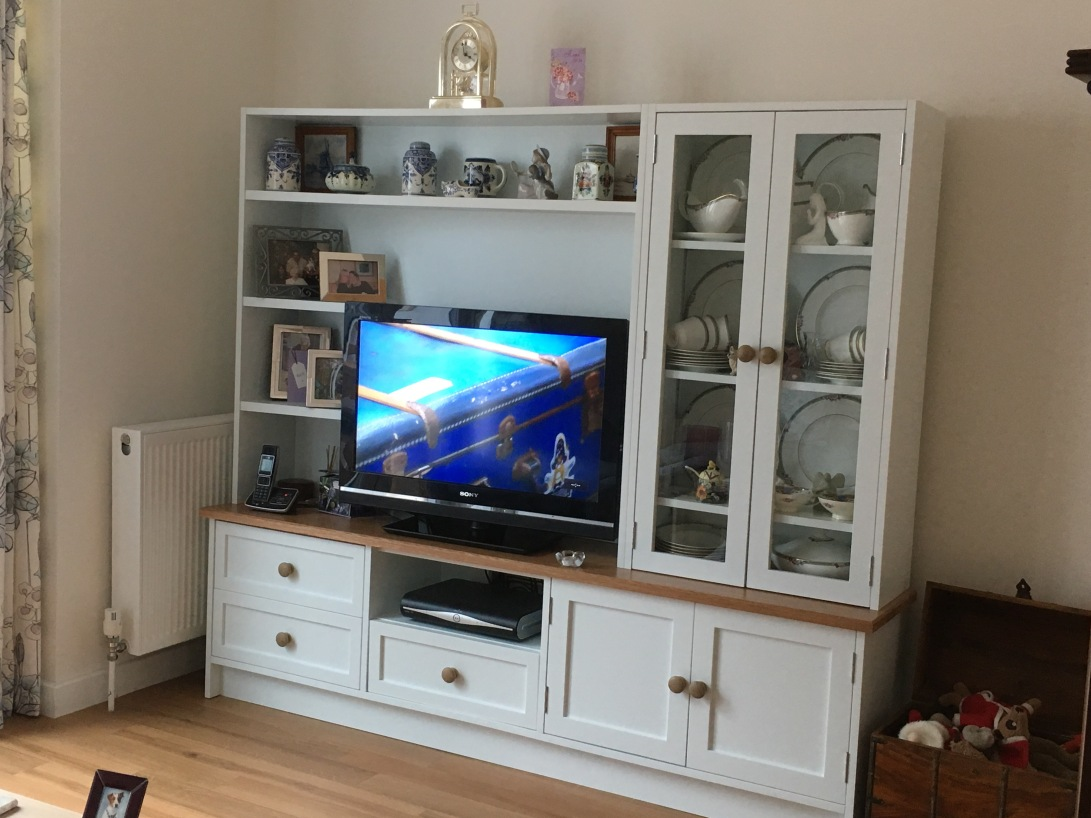 Spray finished TV display cabinet