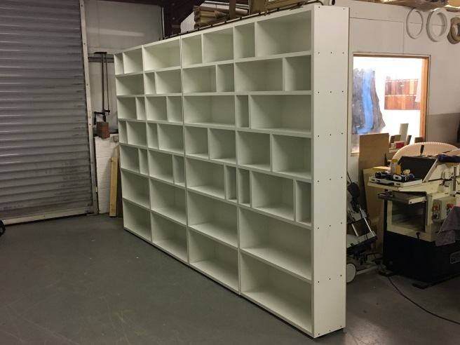 Home office shelving which is work in progress