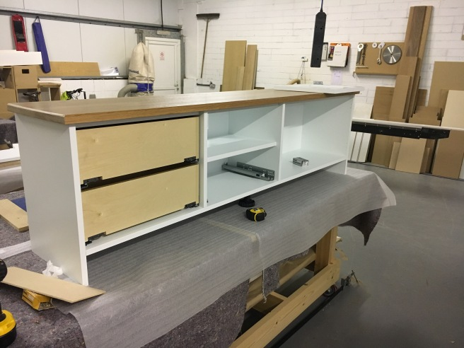 Cabinet with doors and drawers