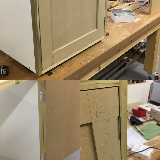 Hanging door in cabinets