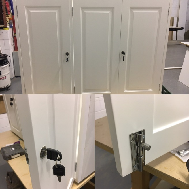 Fitting lock to raised and fielded panel doors