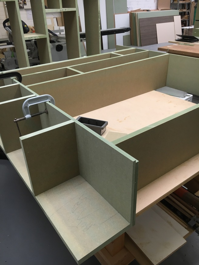 Construction of a TV cabinet