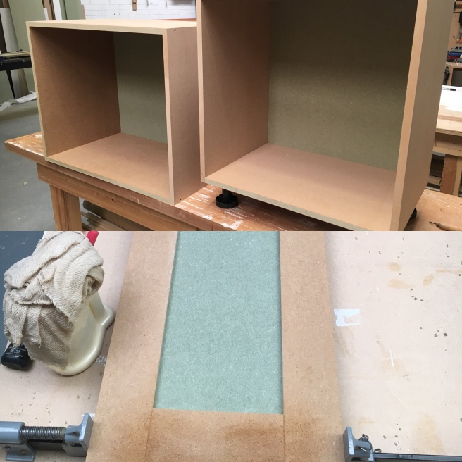Production of alcove cabinets