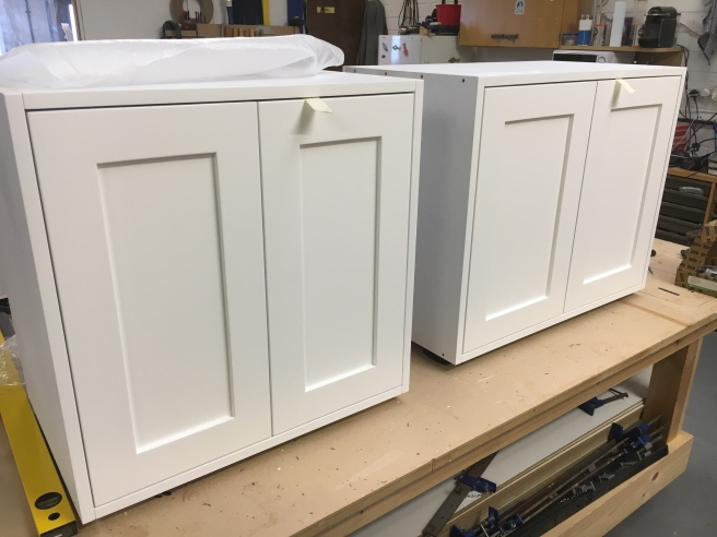 Shaker doors fitted to cabinets