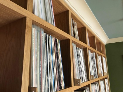 Record storage for listening room